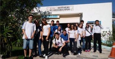 Visita dos educandos da 2ª série ao asilo Cantinho do Idoso