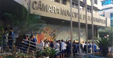 Educandos dos 9º anos visitam a Câmara de Vereadores de Florianópolis