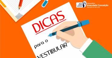 DICAS PARA O VESTIBULAR 2019