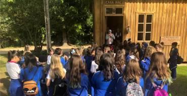 Educandos dos 5º anos visitam o Santuário Santa Paulina
